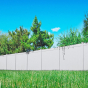 V300-6GY 6\' HIGH ILLUSIONS VINYL PRIVACY FENCE IN GRAY