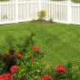 V352-4TR Scalloped Contemporary Vinyl Picket Fence in White (C101)