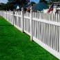 V401N-4 UNI-WELD VINYL GATE AND CONTEMPORARY PICKET FENCE
