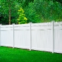 V3700-6 6\' HIGH ILLUSIONS VINYL PRIVACY FENCE WITH STRAIGHT VICTORIAN TOP