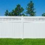 V3215DS-6 6' HIGH ILLUSIONS VINYL PRIVACY FENCE WITH SMALL LATTICE TOP