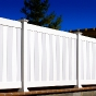 V300-6 Tongue & Groove PVC Privacy Fence with alternating boards in White and Grayre
