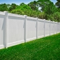 V300-6 6\' HIGH ILLUSIONS VINYL PRIVACY FENCE IN WHITE (AVAIL. IN 3\' - 10\')