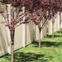 V300-6BG 6\' HIGH ILLUSIONS VINYL PRIVACY FENCE IN BEIGE