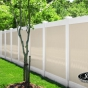 V300-6 T&G Vinyl Privacy Fence in White (C101) and Beige (C102)