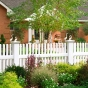 V700-4 4\' HIGH ILLUSIONS VINYL PICKET FENCE - CLASSIC VICTORIAN STRAIGHT TOP