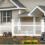 V700 Classic Victorian Picket with Majestic Accent Posts in White (C101)