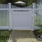 V700-4 Classic Victorian Picket with VWG3707 Walk Gate in Gray (C103)