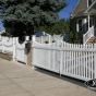 Classic Victorian Picket with Scalloped Top, Scalloped Rails, Walk Gate and Drive Gates in White (C101)