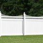 V3707-6 Vinyl Privacy Fence with Scalloped Victorian Top