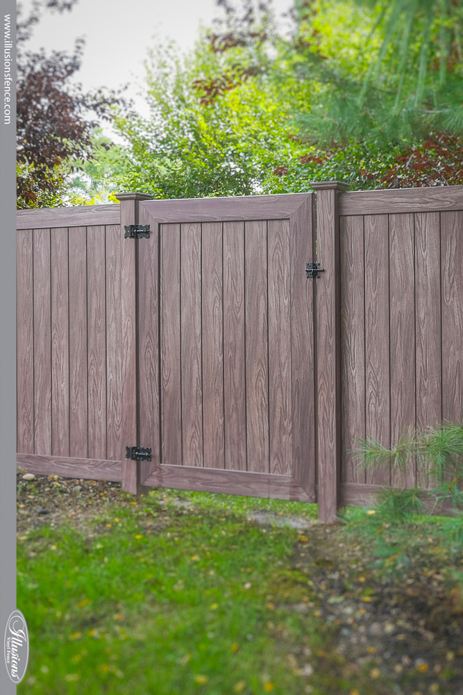 Beautiful PVC Vinyl Wood Grain Fence Gates From . Beautiful PVC Vinyl  Wood Grain Fence Gates From
