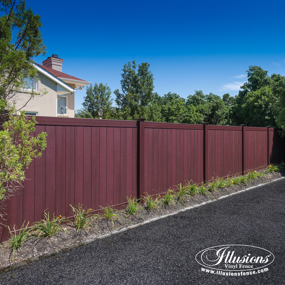 Mahogany Vinyl Archives Illusions Vinyl Fence
