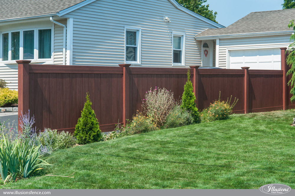 Wood Look Fence Wood Look Pvc Archives Illusions Vinyl
