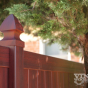 V300-6 Grand Illusions Vinyl WoodBond Mahogany (W101) Privacy Fence