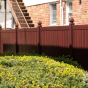 V300-6 Grand Illusions Vinyl WoodBond Mahogany (W101) Privacy Fence