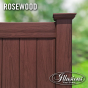 Illusions Rosewood PVC Vinyl Privacy Fence Panels look like stained rosewood fence without the maintenance. The most authentic looking vinyl woodgrain fence in the world. #vinylfence #woodgrain #cedarfence #woodfence #fenceideas #illusionsfence #privacyfence #privacy #backyardideas #curbappeal #homeideas #landscaping #landscapingideas #longisland #longislandny #connecticut #newyork #rhodeisland #newjersey #pennsylvania