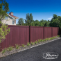 Mahogany PVC Vinyl Fence by Illusions Fence_0009