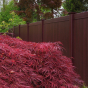 Mahogany PVC Vinyl Fence by Illusions Fence_0011