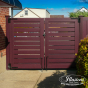 Mahogany PVC Vinyl Fence by Illusions Fence_0014