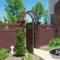 V3215SQ-6 Mahogany (W101) T&G Vinyl Privacy Fence