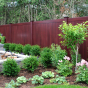 V300-6 Tongue & Groove Vinyl Woodbond PVC Fence in Cherry (W102)
