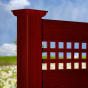 V3215SQ-6 Mahogany (W101) T&G Vinyl Privacy Fence with Square Lattice