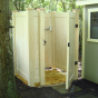 V300-6 6' T&G PVC Privacy fence Outdoor Shower Enclosure in Eastern White Cedar (W105)