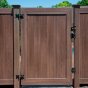 VWG300-46 Solid T&G Walk Gate in Walnut (W103) with hardware