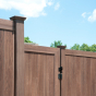 V300-6 T&G PVC Privacy Fence in Walnut (W103)