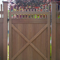 VWG3707-46 - Grand Illusions Vinyl WoodBond Walnut (W103) Walk Gate