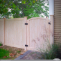 pvc vinyl cedar wood grain accent gate