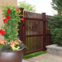 PVC Woodgrain Gate in Mahogany (W101)