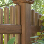 Semi-Privacy Victorian Scalloped Fence in Rosewood (W104)