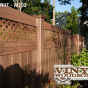 V3215DS-6 PVC Privacy Fence with Small Diagonal Lattice in Walnut (W103)