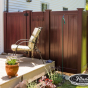V300-6 6' Tongue and Groove PVC Privacy fence in Mahogany (W101)
