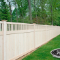 V3701-6 T&G PVC Privacy Fence with Framed Victorian Top in Eastern White Cedar (W105)
