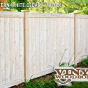 V300-6 Tongue & Groove Fence in Vinyl Woodbond Eastern White Cedar (W105)
