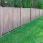 V300-6 Tongue & Groove Vinyl Woodbond PVC Fence in Walnut (W103)