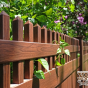 V3700-6W104 T&G Vinyl Privacy Fence with Straight Top Classic Victorian Picket Topper.