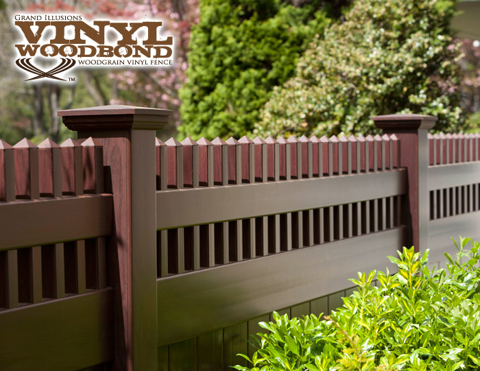 v37006 grand illusions vinyl woodbond mahogany w101 privacy fence v37006 grand illusions vinyl woodbond mahogany w101 privacy fence