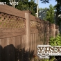 V3215DS-6 Walnut (W103) T&G Vinyl Privacy Fence