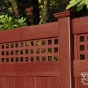 V3215SQ-6 Cherry (W102) T&G Vinyl Privacy Fence