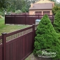 Mahogany PVC Vinyl Fence by Illusions Fence_0012