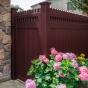 Beautiful PVC VINYL Mahogany Privacy Fence
