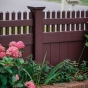 Beautiful PVC VINYL Mahogany Privacy Fence
