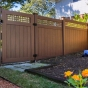 PVC-Vinyl-Wood-Grain-Rosewood-Illusions-Fence-Gate