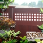 V3215SQ-6 Cherry (W102) T&G Vinyl Privacy Fence
