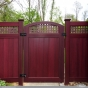 dark red pvc vinyl wood grain accent gate