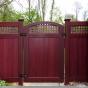 dark red pvc vinyl wood grain accent gate