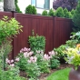 V300-6 Tongue & Groove Vinyl Woodbond PVC Fence in Mahogany (W101)